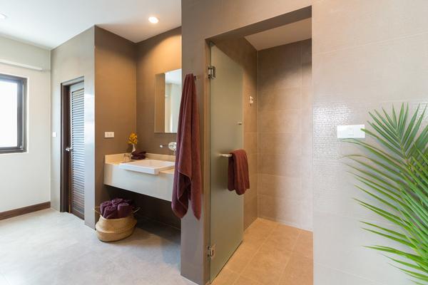 Bathroom at Sukham Villa,