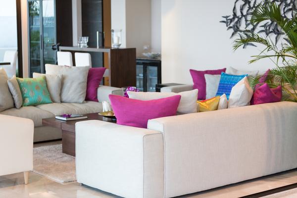 Living room at Sukham Villa,