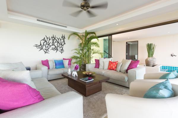 Living room at Sukham Villa, north Chaweng