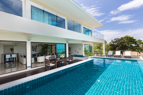 Swimming pool and views at Koh Samui Villa