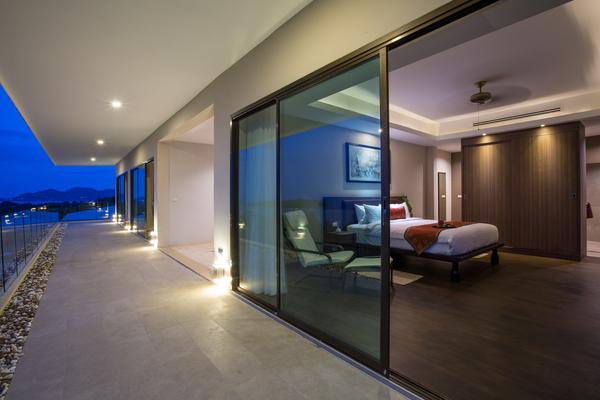 Upper bedroom terrace and view at Sukham Villa