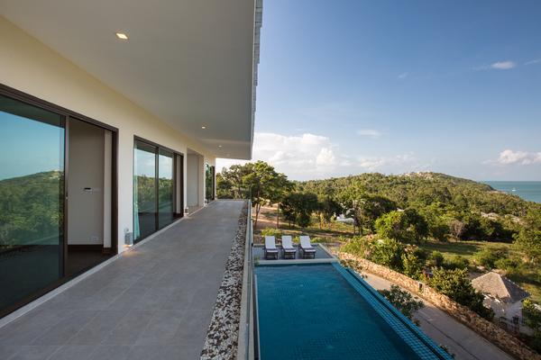Upper terrace at sea view villa, Koh Samui
