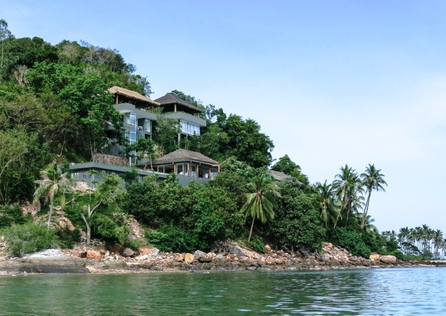 Koh Samui, 6 Bedroom luxury villa, Laem Sor, ocean front, view from the sea