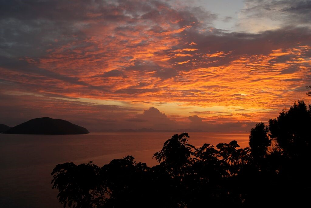 Koh Samui. Luxury Villa, property for sale, sunset