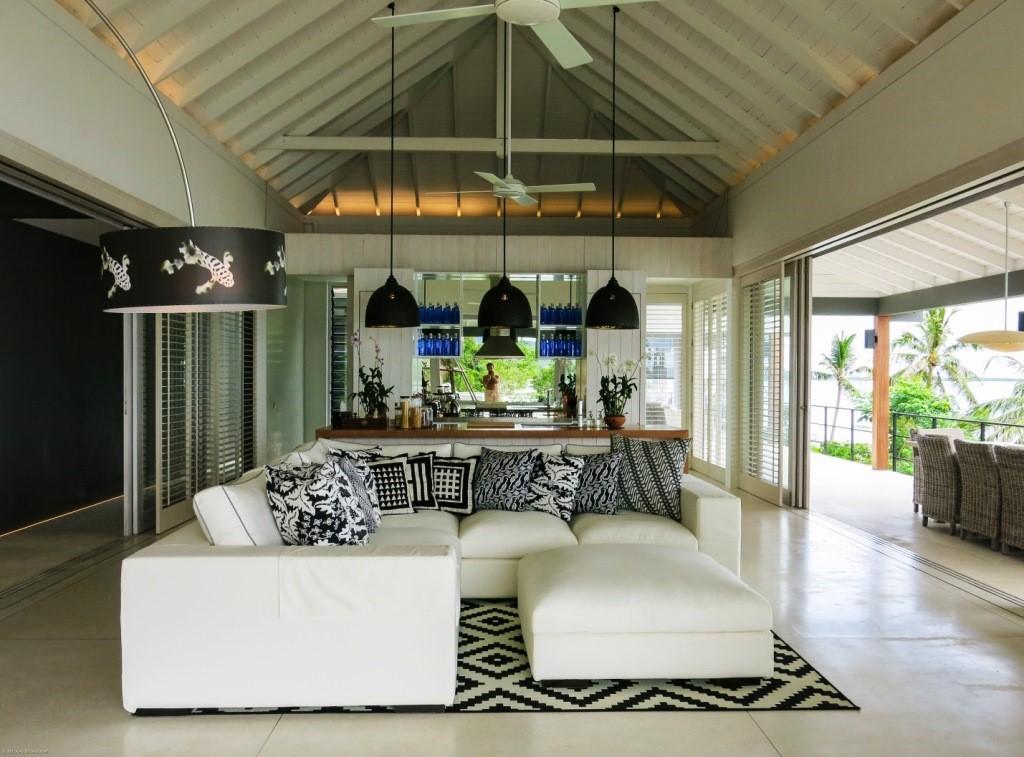 Koh Samui, 6 Bedroom luxury villa, Laem Sor, ocean front, living room