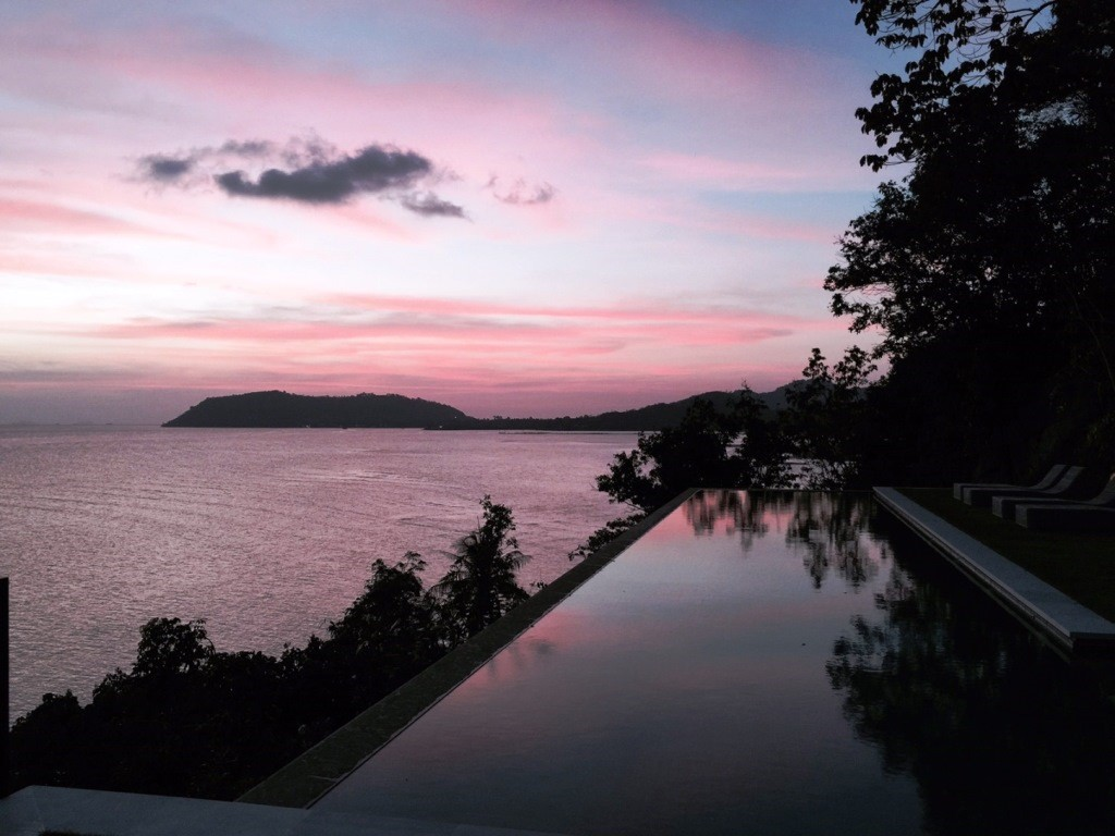 Koh Samui, 6 Bedroom luxury villa, Laem Sor, ocean front, sunset