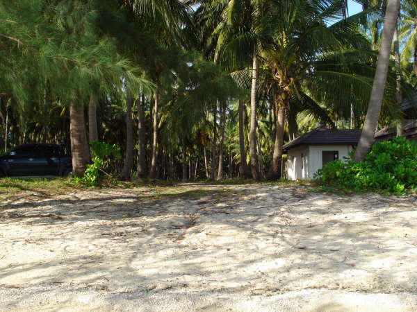 Koh Samui, beach land for sale, view from the sea,