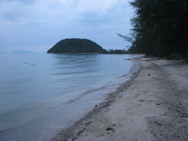 Koh Samui, beach land for sale, looking north along the beach,