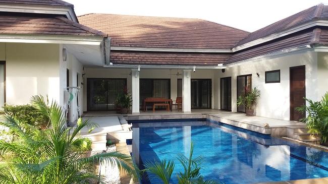 Koh Samui, 3 bed bungalow, Samram Gardens, Maenam, rear view
