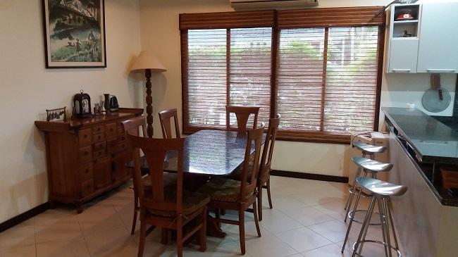 Koh Samui, 3 bed bungalow, Samram Gardens, Maenam, dining room,