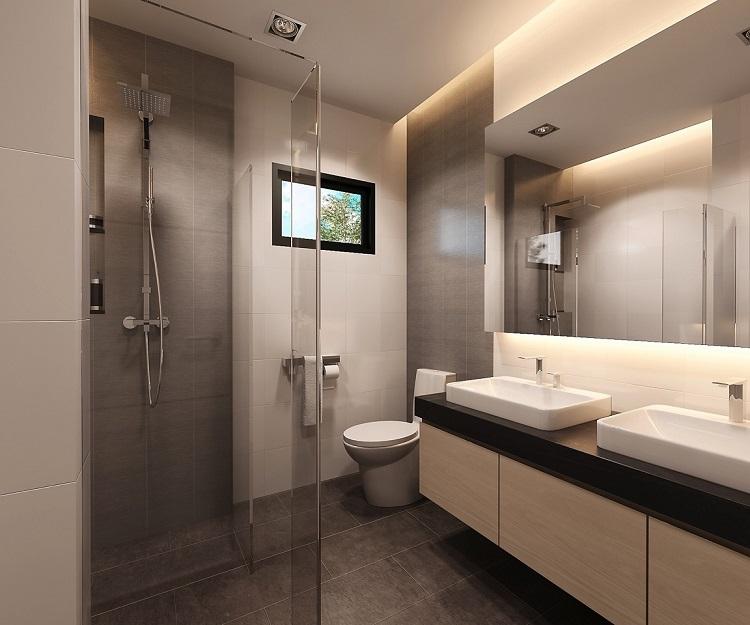 Koh Samui, Plai Laem, New Townhouse for sale, Samui Emerald Villa, bathroom