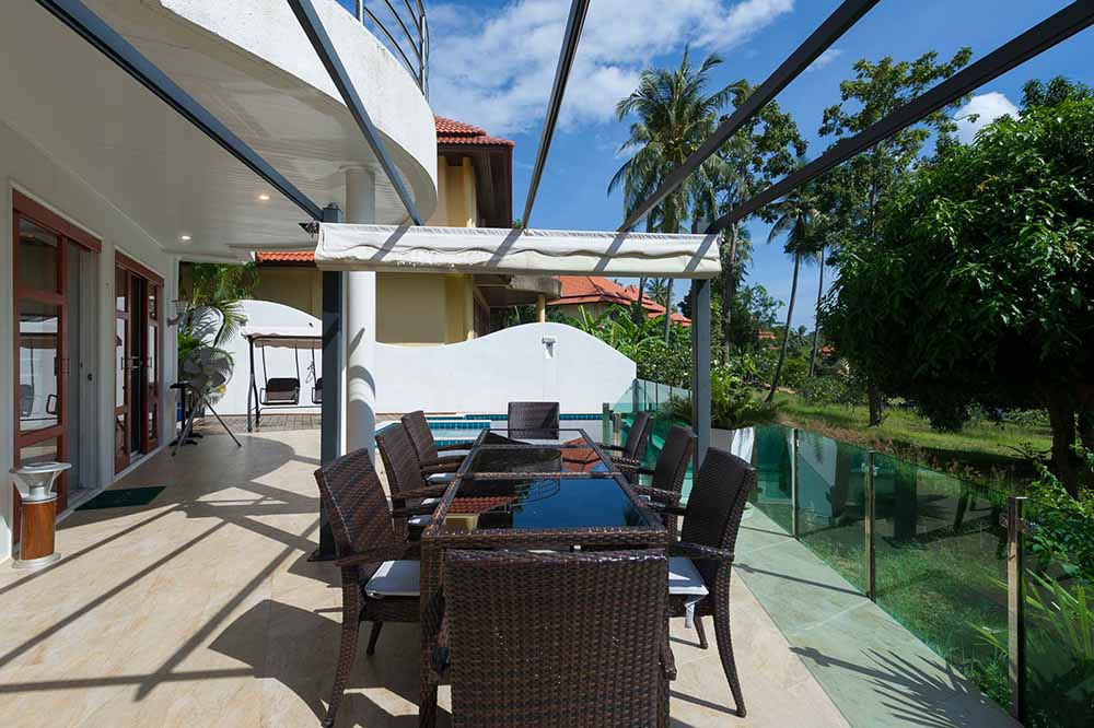 Koh Samui, Choengmon, 3 bedroom, detached pool villa, rear deck
