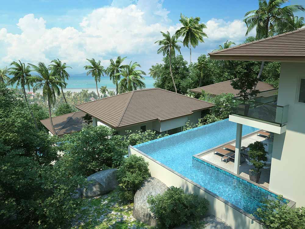 villa for sale Koh Samui, sea view villa for sale Koh Samui, villa in development for sale Koh Samui, coral Cay
