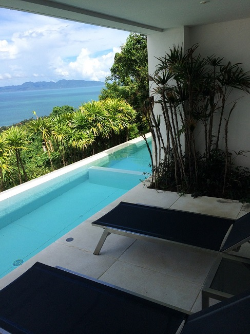 Koh Samui Apartment for Sale, Infinity Apartment for Sale, balcony view,