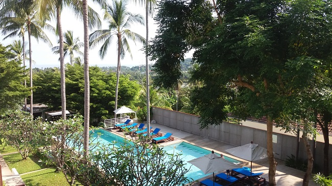 Koh Samui Condo for sale, Koh Samui Condominium for Sale, 2 bedroom Condo, Apartment for Sale, balcony view,