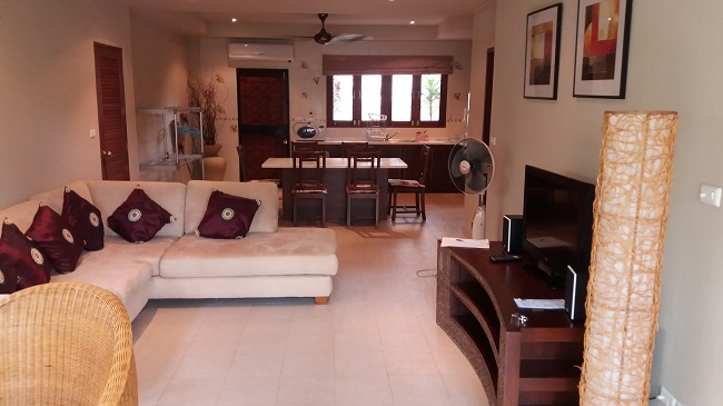 Koh Samui, Bophut, villa for sale, townhouse for sale, Baan Ton Mai, ground floor,