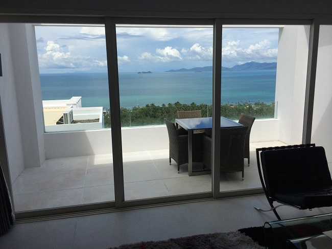 Koh Samui Apartment for Sale, Infinity Apartment for Sale, view from lounge,