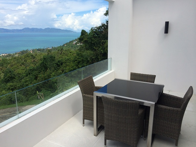 Koh Samui Apartment for Sale, Infinity Apartment for Sale, balcony,