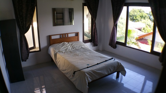 Koh Samui house for sale, Bangrak house for sale, rear bedroom,