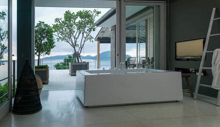 Koh Samui Luxury Villa for Sale, Ocean front villa for sale, bathroom,
