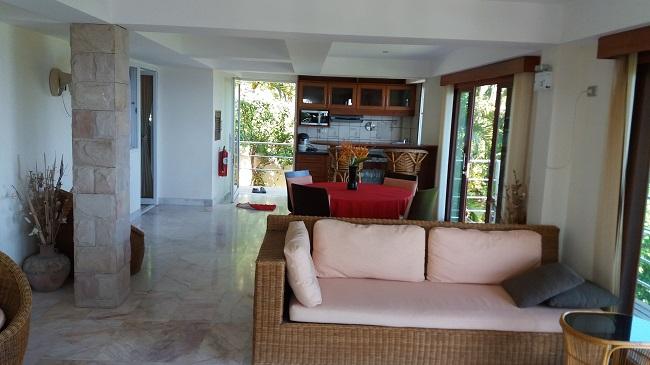 Ko Samui villa for sale, Sea view villa for sale, Villa with apartment for sale, apartment, through living room,