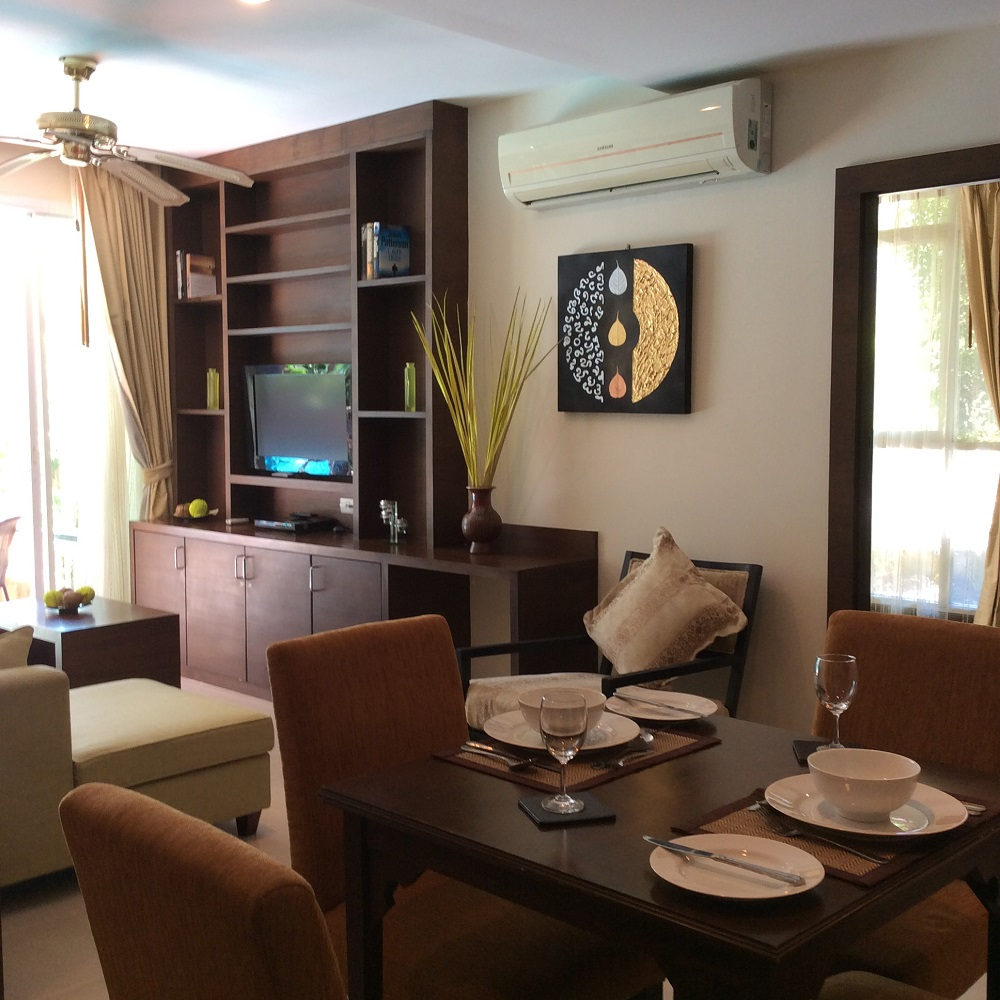 Koh Samui Apartment for Sale, Foreign Freehold Apartment for Sale, living room,