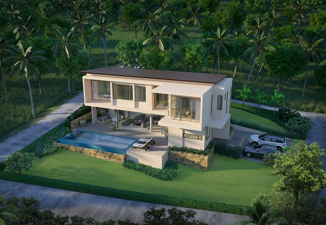 Koh Samui New Villas for sale, Sea view villas for Sale, Main view,
