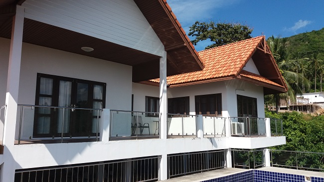 Koh Samui bungalow for sale, Sea view bungalow for sale, rear view,