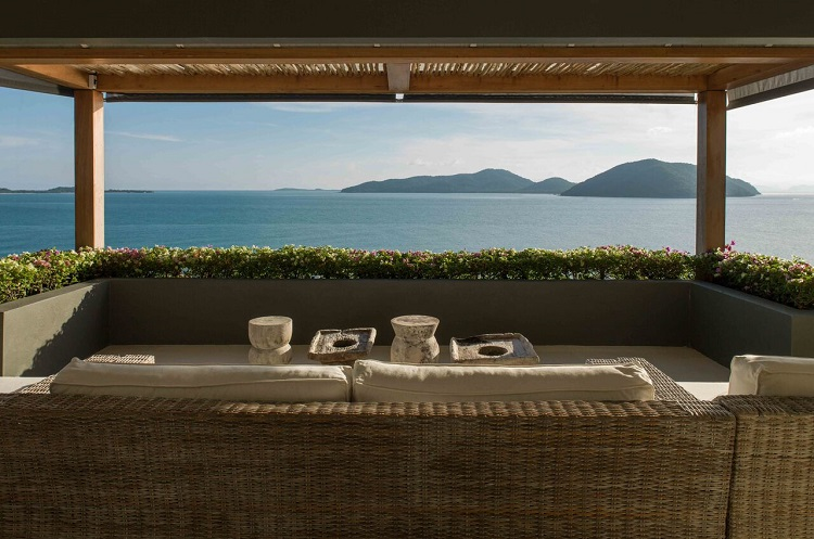Koh Samui Luxury Villa for Sale, Ocean front villa for sale, view from balcony,