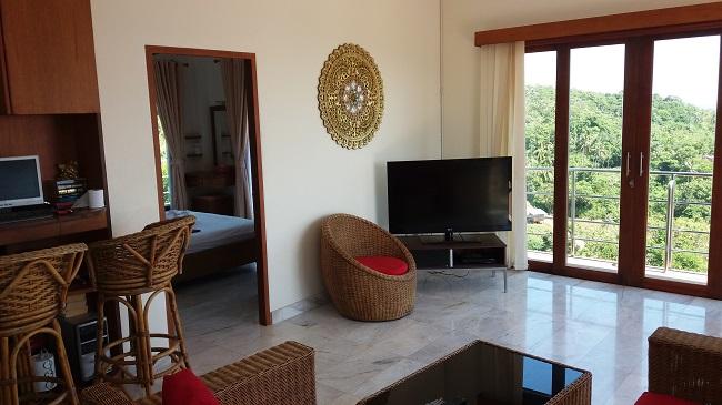 Ko Samui villa for sale, Sea view villa for sale, Villa with apartment for sale, lounge,
