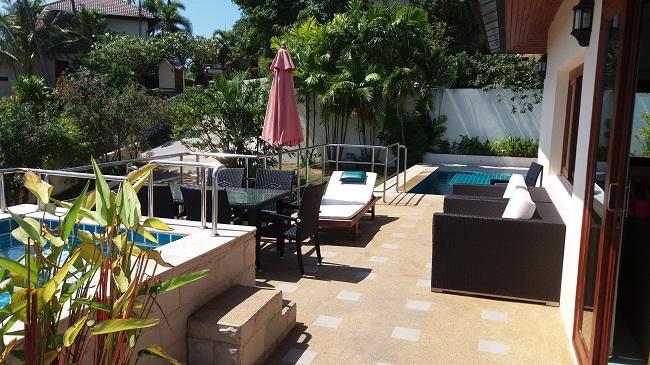 Ko Samui villa for sale, Sea view villa for sale, Villa with apartment for sale, pool deck,