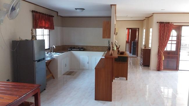 Koh Samui Villa for Sale, Villa near beach for sale, apartment, living room and kitchen,