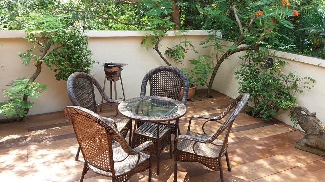 Koh Samui Bungalow for sale, 2 bedroom bungalow for sale, rear deck,