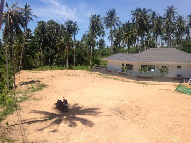 Koh Samui land for sale, flat land for sale, 1 Rai for sale in Koh Samui, cleared for development,