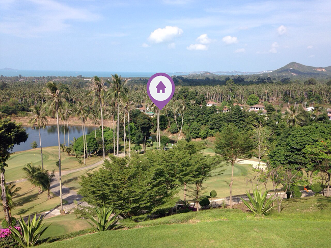 Koh Samui land for sale, flat land for sale, 1 Rai for sale in Koh Samui, view from golf course,