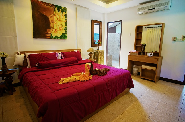 Koh Samui villa for sale, pool villa for sale, Villa Mango for sale, bedroom,