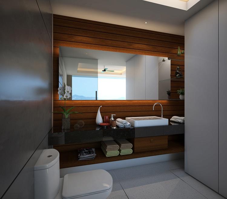 Koh Samui New Villa For Sale, Sukkho Villa for sale, two bed villa for sale, bathroom,
