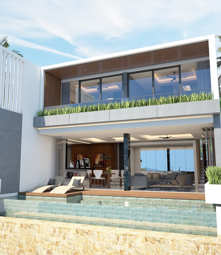 Koh Samui new Villa for Sale, Sukkho Villa for Sale, Sea View Villas For sale, 2 bedroom,