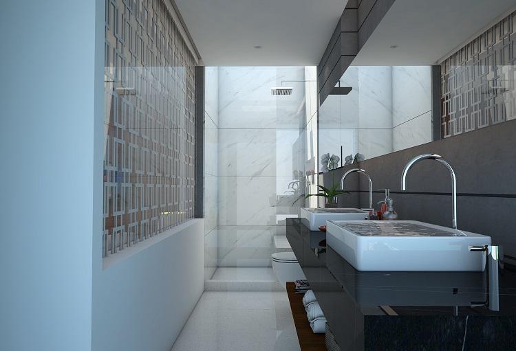 Koh Samui new Villa for Sale, Sukkho Villa for Sale, Sea View Villas For sale, master bathroom,