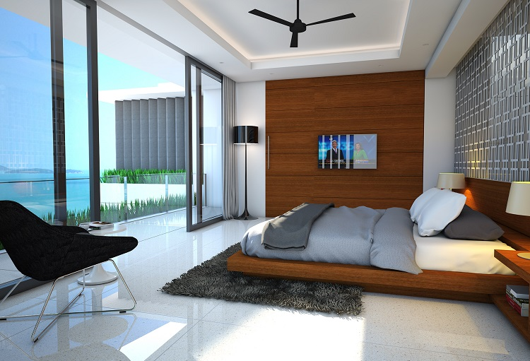 Koh Samui new Villa for Sale, Sukkho Villa for Sale, Sea View Villas For sale, master bedroom,
