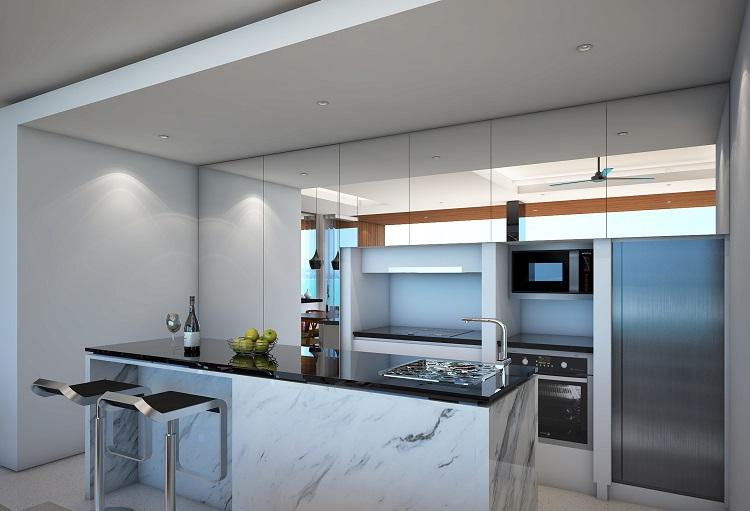 Koh Samui new Villa for Sale, Sukkho Villa for Sale, Sea View Villas For sale, kitchen,