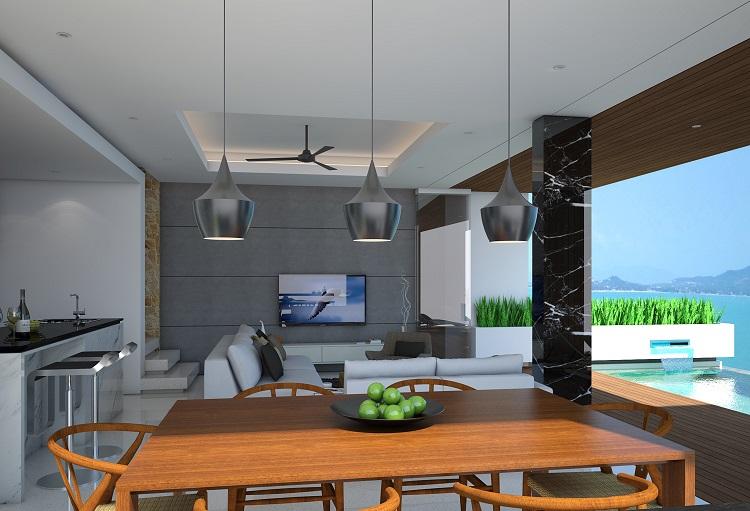 Koh Samui new Villa for Sale, Sukkho Villa for Sale, Sea View Villas For sale, dining room,