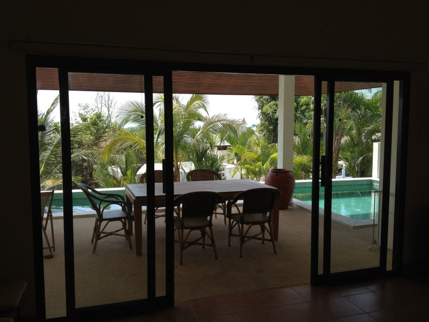 Koh Samui sea view villa for sale, Koh Samui pool villa for sale, balcony,