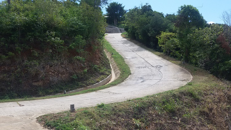 Koh Samui Hillside land for sale, 36 Rai sea view land for sale, roads,