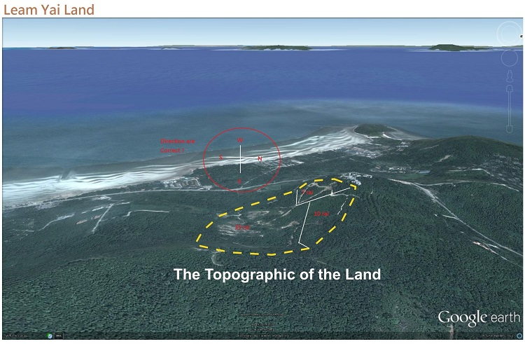Koh Samui Hillside land for sale, 36 Rai sea view land for sale, topography,