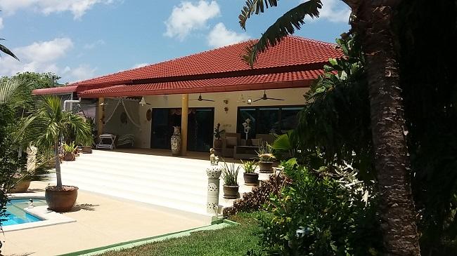 Koh Samui Villa for sale, 6 bedroom villa for sale, Pool villa for sale, rear view,