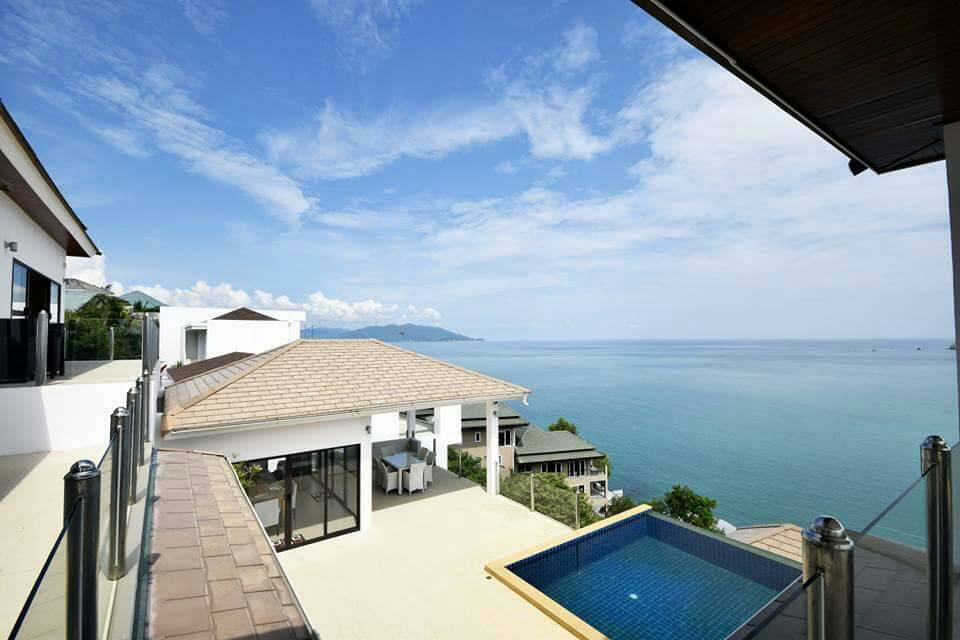 Koh Samui ocean view villa for sale, Ko Samui luxury villa for sale, Ocean View villa in Choengmon