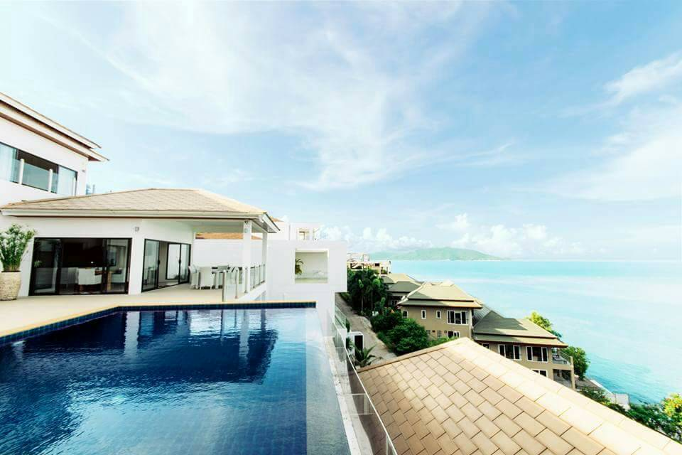 Koh Samui ocean view villa for sale, Ko Samui luxury villa for sale, Swimming Pool,