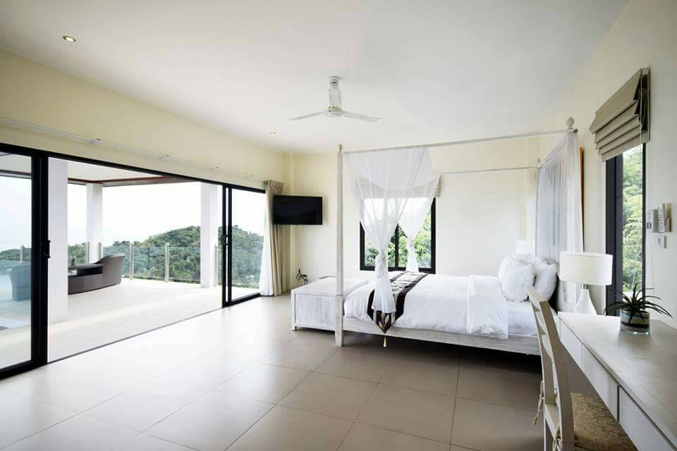 Koh Samui ocean view villa for sale, Ko Samui luxury villa for sale, Bedroom 1,