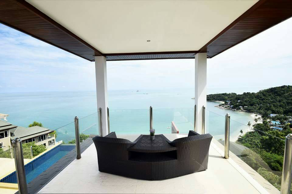 Koh Samui ocean view villa for sale, Ko Samui luxury villa for sale, Bedroom 1 Sala,